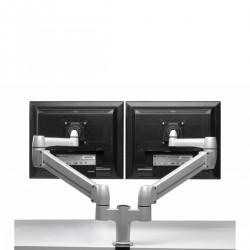 SPACE-ARM DUAL : support 2 écrans plat avec vérin à gaz